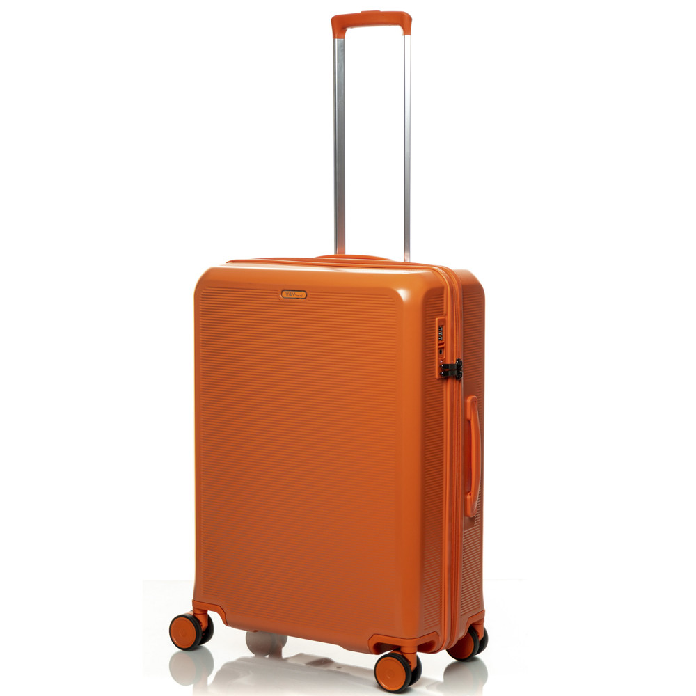Чемодан V&V PC 023-65 Orange